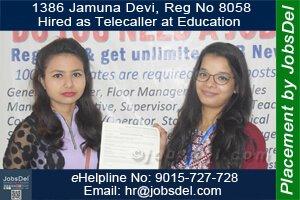 Jamuna Hired as Telecaller at Education
