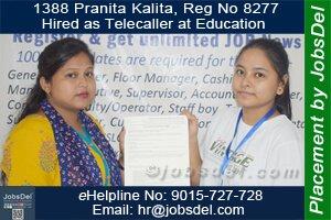 Pranita Hired as Telecaller at Education